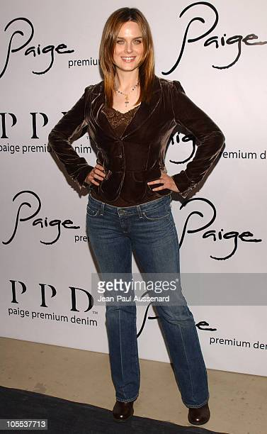 Emily Deschanel during Paige Premium Denim Party Arrivals at Paige Premium Denim Flagship store in Los Angeles California United States