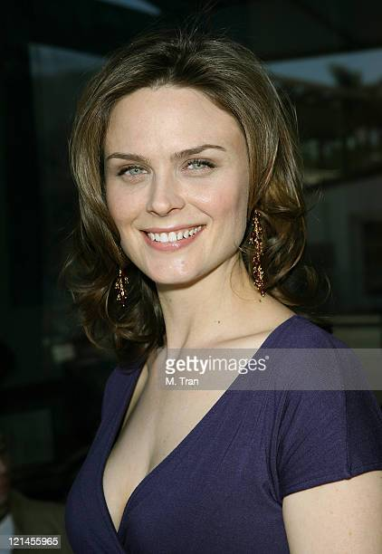 Emily Deschanel during Save the Seals Day in LA at Real Food Daily in West Hollywood California United States