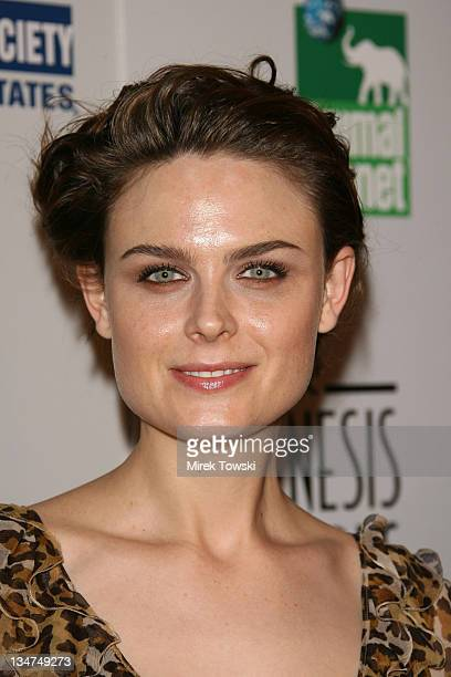 Emily Deschanel during The 20th Annual Genesis Awards at Beverly Hilton Hotel in Beverly Hills California United States