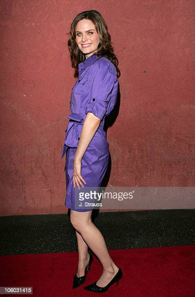 Emily Deschanel during The AIDS Healthcare Foundation Presents Hot in Hollywood at The Henry Fonda/Music Box Theatre in Hollywood California United...