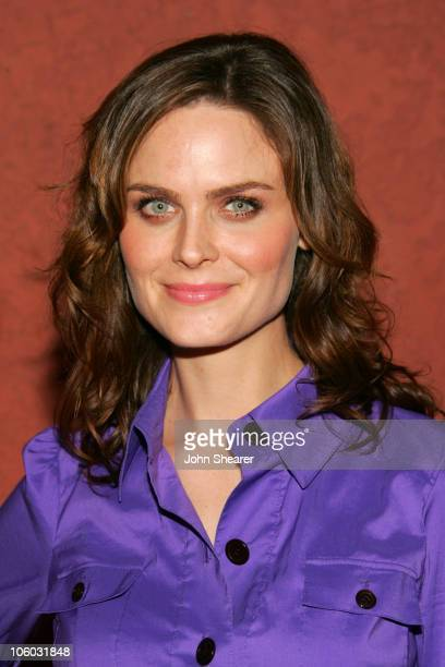 Emily Deschanel during The AIDS Healthcare Foundation Presents Hot In Hollywood at Henry Fonda Theatre in Hollywood California United States