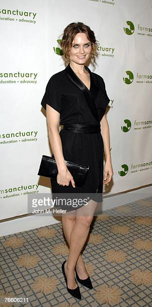 Emily Deschanel hosts the Hollywood Gala for Farm Sanctuary the leading farm animal protection organization in the United States at the Beverly Hills...