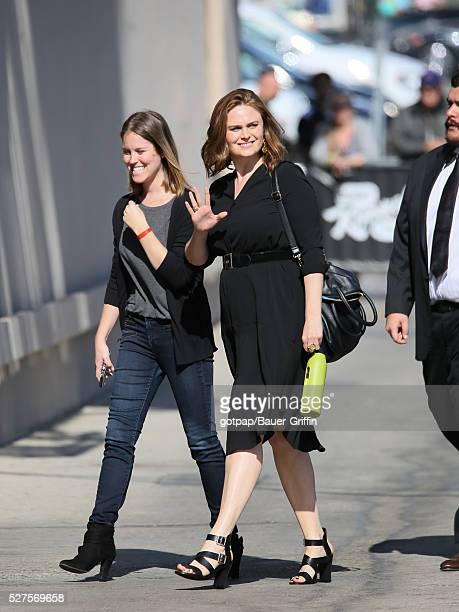 Emily Deschanel is seen at 'Jimmy Kimmel Live' on May 02 2016 in Los Angeles California