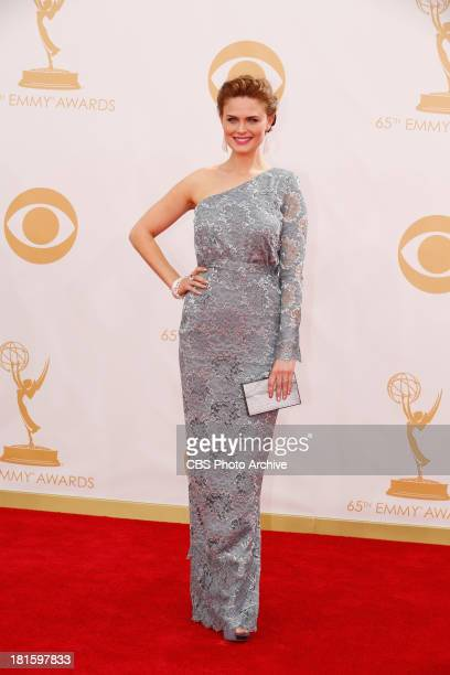 Emily Deschanel on the Red Carpet for the 65th Primetime Emmy Awards which will be broadcast live across the country 8001100 PM ET/ 500800 PM PT from...