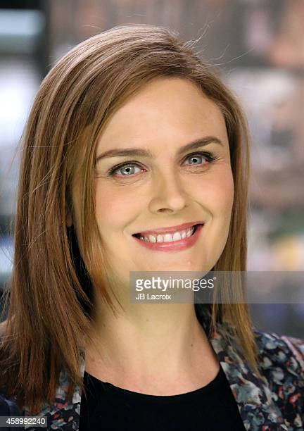 Emily Deschanel poses during Fox Celebrates 'Bones' 200th Episode at the Fox Studio Lot on November 14 2014 in Century City California