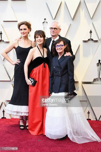 Emily Deschanel Zooey Deschanel cinematographer Caleb Deschanel and Mary Jo Deschanel attend the 91st Annual Academy Awards at Hollywood and Highland...