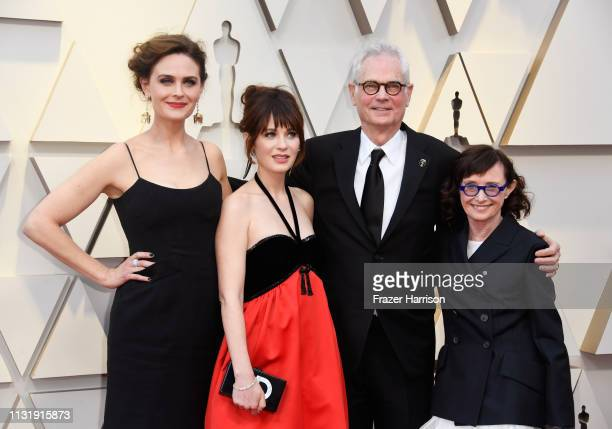 Emily Deschanel Zooey Deschanel cinematographer Caleb Deschanel and Mary Jo Deschanel attends the 91st Annual Academy Awards at Hollywood and...