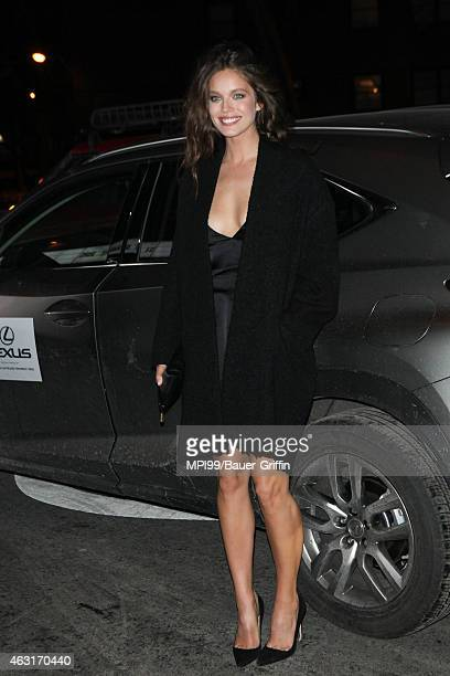 Emily DiDonato arrives at the 2015 Sports Illustrated Swimsuit Celebration at Marquee on February 10 2015 in New York City