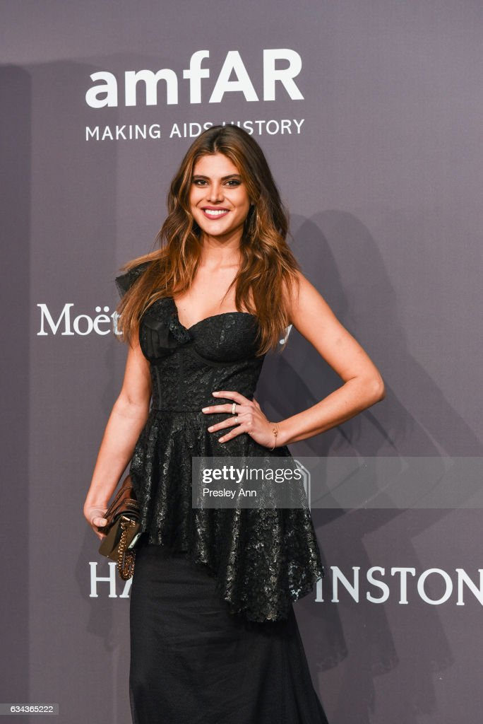 Emily DiDonato attends 19th Annual amfAR New York Gala- Arrivals at Cipriani Wall Street on February 8, 2017 in New York City.