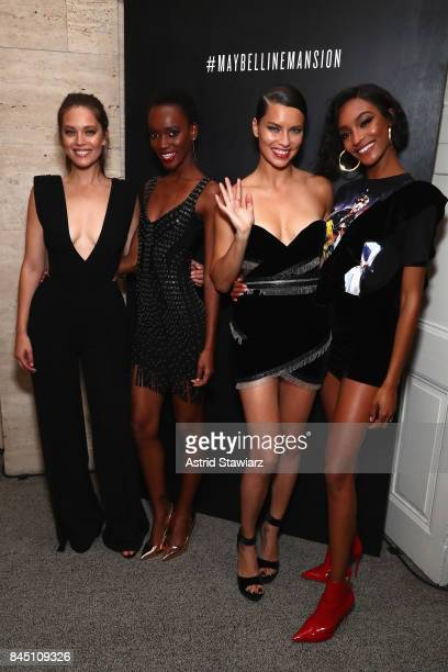 Emily DiDonato Herieth Paul Adriana Lima and Jourdan Dunn attend a night at the Maybelline Mansion presented by V on September 9 2017 in New York City