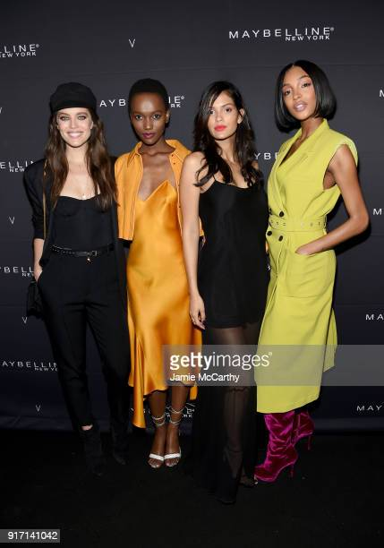 Emily DiDonato Herieth Paul Cris Urena and Jourdan Dunn attend the Maybelline New York x V Magazine Party at the Nomo Soho Hotel on February 11 2018...