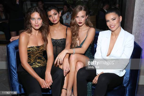 Emily DiDonato Livia Rangel Josephine Skriver and Adriana Lima attend the Maybelline New York Fashion Week party on September 07 2019 in New York City