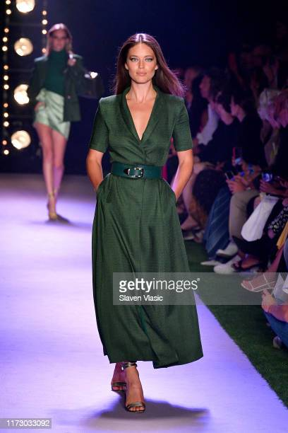 Emily DiDonato walks the runway for Brandon Maxwell during New York Fashion Week The Shows on September 07 2019 in New York City