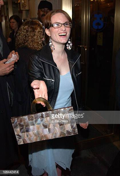 Emily Dreyfuss during Opening Night of 'Sly Fox' on Broadway Arrivals at Ethel Barrymore Theatre in New York City New York United States