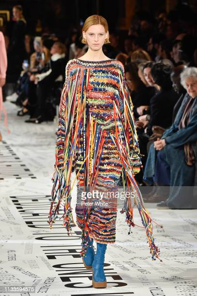 Emily Driver walks the runway during the Stella McCartney show as part of the Paris Fashion Week Womenswear Fall/Winter 2019/2020 on March 04 2019 in...