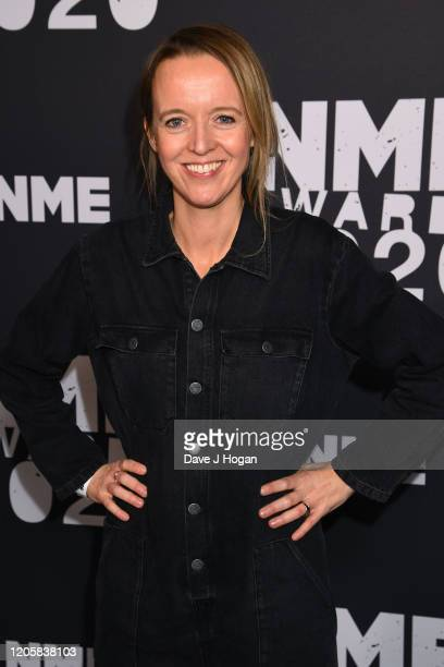 Emily Eavis poses as Glastonbury wins the Best Festival In The World Award during the NME Awards 2020 at O2 Academy Brixton on February 12, 2020 in...