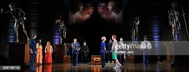 Emily Fons as Megacle and Tim Mead as Licida with artists of the company in Garsington Opera's production of Antonio Vivaldi's L'Olimpiade directed...