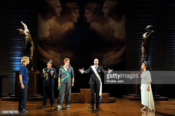 Emily Fons as Megacle William Berger as AlcandroTim Mead as LicidaRiccardo Novaro as Clistene and Rosa Bove as Aristea in Garsington Opera's...