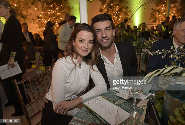 Emily Foxler and Justin Baldoni attend Global Green USA's 13th Annual PreOscar Party at Mr C Beverly Hills on February 24 2016 in Beverly Hills...