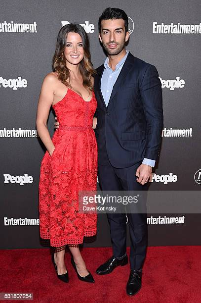Emily Foxler and Justin Baldoni attend the Entertainment Weekly People Upfronts party 2016 at Cedar Lake on May 16 2016 in New York City