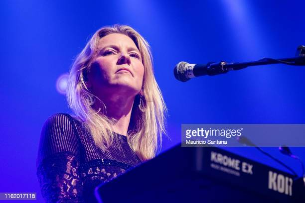 Emily Gervers member of the band Rumours of Fleetwood Mac performs live on stage at Espaco das Americas on August 15 2019 in Sao Paulo Brazil