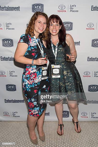 Emily Gipson and Caitlin McFarland ATX Television Festival Founders / CoExecutive Directors attend the Ugly Betty Reunion After Party presented with...