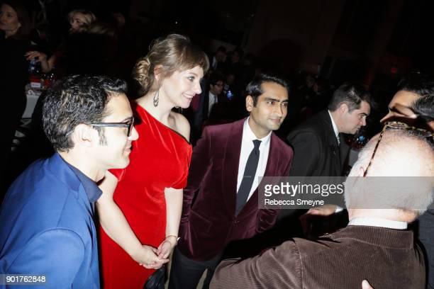Emily Gordon and Kumail Nanjiani attend the 2017 IFP Gotham Awards at Cipriani Wall Street on November 27 2017 in New York NY
