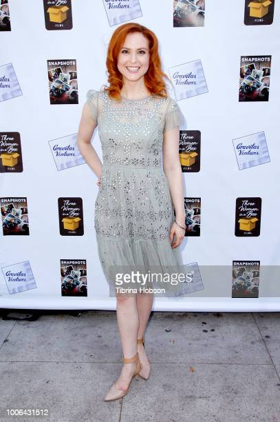 Emily Goss attends the Los Angeles premiere of Gravitas Ventures 'Snapshots' at Laemmle Music Hall on July 27 2018 in Beverly Hills California