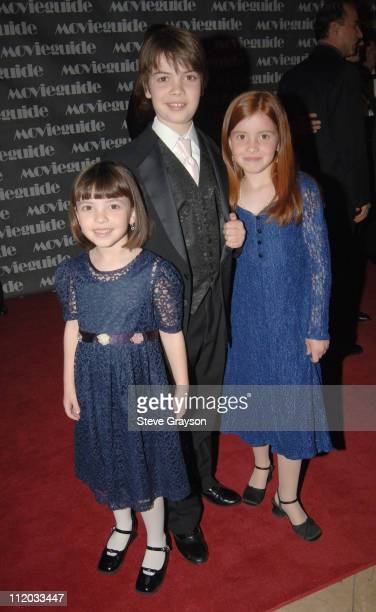 Emily Gould Alexander Gould and Emma Gould during 14th Annual Movieguide Faith and Values Awards in Los Angeles California United States
