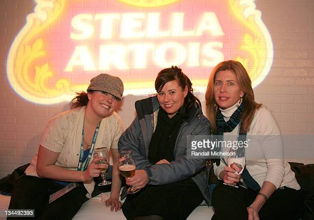 Emily Grabner, Michelle Ochoa and Lisa McDonald attend the Stella Artois Cutting Room at the Sundance House during the 2008 Sundance Film Festival on...