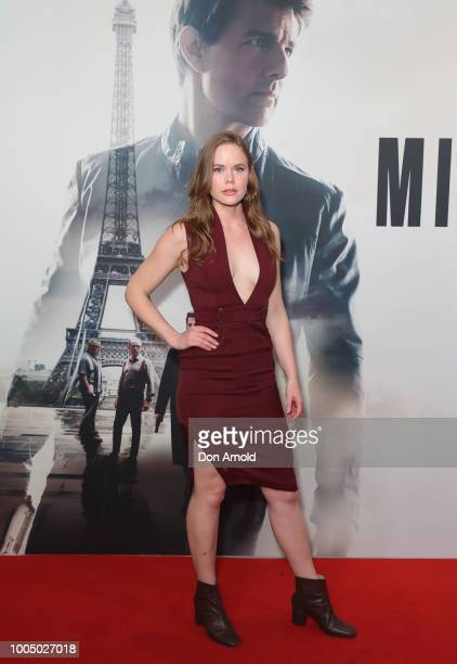 Emily Gruhl attends the MISSION IMPOSSIBLE FALLOUT Sydney Special Preview Screening at Event Cinemas George Street on July 25 2018 in Sydney Australia