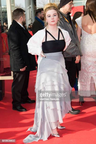 Emily Gruhl attends the 'Picnic at Hanging Rock' premiere during the 68th Berlinale International Film Festival Berlin at Zoo Palast on February 19...