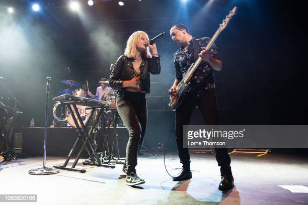 Emily Haines and Joshua Winstead of Metric perform at The Forum on November 20 2018 in London England