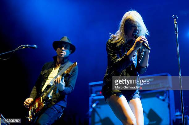 Emily Haines from Metric performs for fans on day 3 of the 2012 Splendour In The Grass Festival on July 29 2012 in Byron Bay Australia