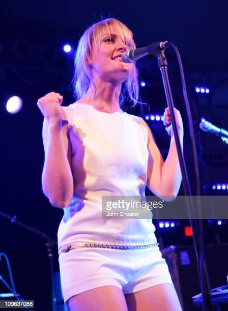 Emily Haines of Metric during 20th Annual SXSW Film and Music Festival Metric at Stubb's BarBQ at Stubb's BarBQ in Austin Texas United States