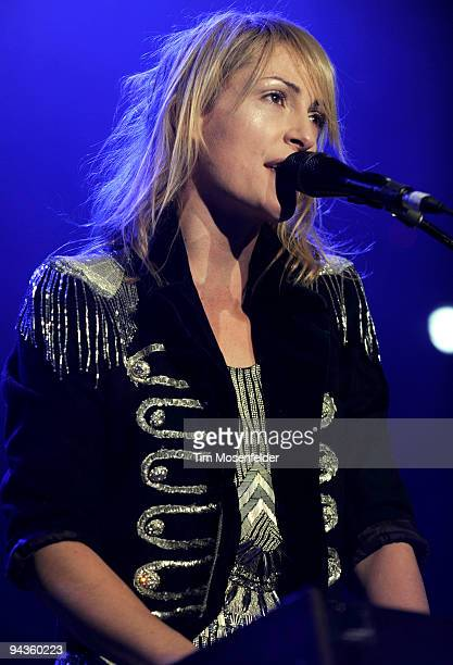 Emily Haines of Metric performs as part of Live 105's Not So Silent Night 2009 at the Oracle Arena on December 11 2009 in Oakland California