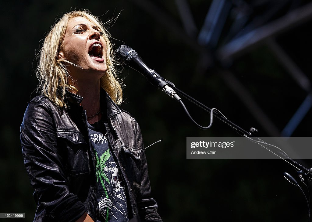 Emily Haines of Metric performs during Day 2 of Pemberton Music and Arts Festival on July 19, 2014 in Pemberton, Canada.