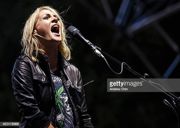 Emily Haines of Metric performs during Day 2 of Pemberton Music and Arts Festival on July 19 2014 in Pemberton Canada
