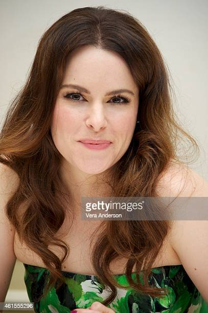 Emily Hampshire at the Twelve Monkeys Press Conference at the Four Seasons Hotel on January 14 2015 in Beverly Hills California