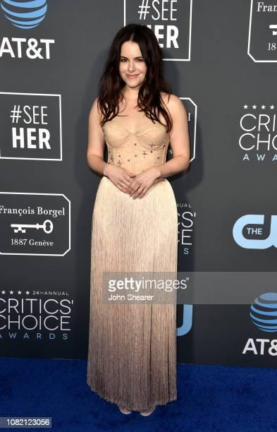 Emily Hampshire attends the 24th Annual Critics' Choice Awards at Barker Hangar on January 13 2019 in Santa Monica California