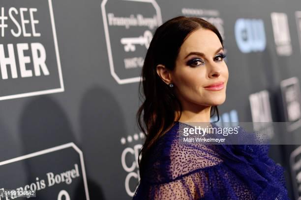 Emily Hampshire attends the 25th Annual Critics' Choice Awards at Barker Hangar on January 12 2020 in Santa Monica California