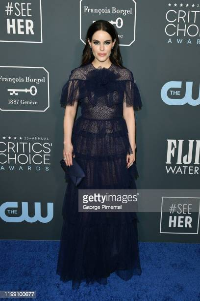 Emily Hampshire attends the 25th Annual Critics' Choice Awards held at Barker Hangar on January 12 2020 in Santa Monica California