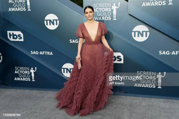 Emily Hampshire attends the 26th Annual Screen ActorsGuild Awards at The Shrine Auditorium on January 19 2020 in Los Angeles California