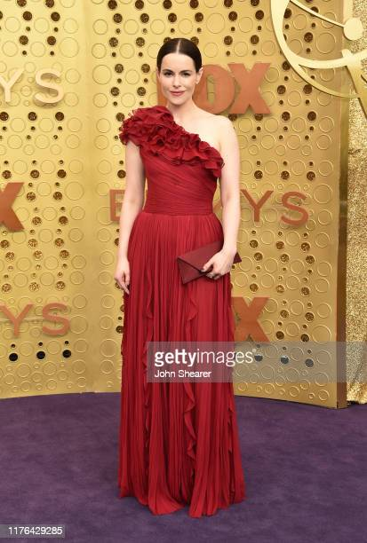 Emily Hampshire attends the 71st Emmy Awards at Microsoft Theater on September 22 2019 in Los Angeles California