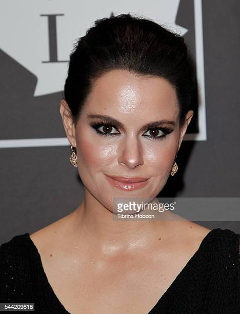 Emily Hampshire attends the Golden Maple Awards 2016 at Mohawk Bend on July 1 2016 in Los Angeles California