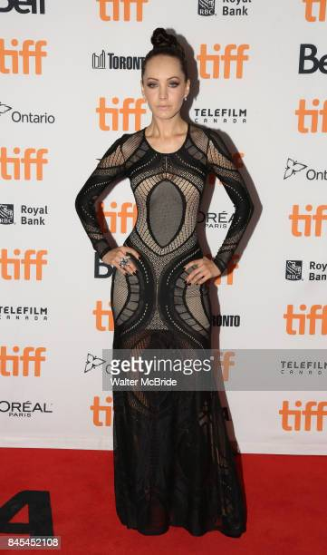 Emily Hampshire attends the 'Mother' premiere during the 2017 Toronto International Film Festival at Princess of Wales Theatre on September 10 2017...