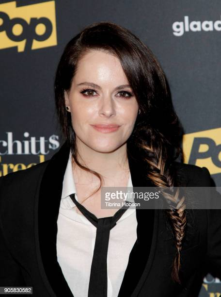 Emily Hampshire attends the premiere of Pop TV's 'Schitt's Creek' season 4 at ArcLight Hollywood on January 16 2018 in Hollywood California