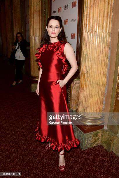 Emily Hampshire attends the The Death And Life Of John F Donovan premiere during 2018 Toronto International Film Festival at Winter Garden Theatre on...