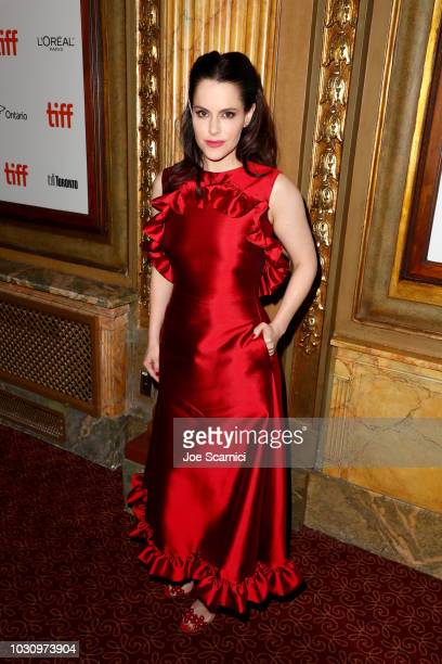 """Emily Hampshire attends the """"The Death And Life Of John F. Donovan"""" premiere during 2018 Toronto International Film Festival at Winter Garden Theatre..."""