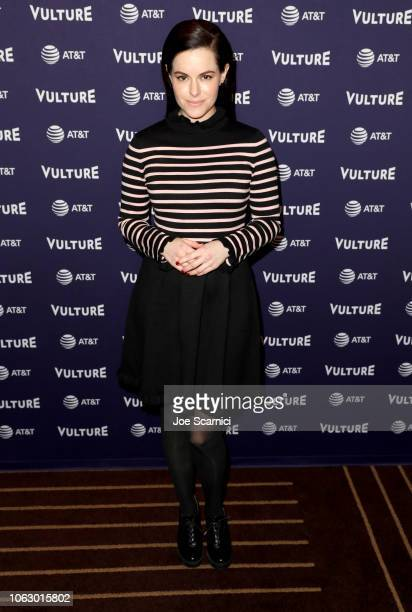 Emily Hampshire attends Vulture Festival presented by AT&T at Hollywood Roosevelt Hotel on November 17, 2018 in Hollywood, California.